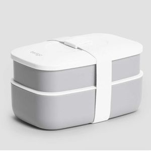Bentgo Classic Lunch Box Gray and White NEW